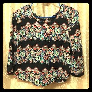 Open backed tribal patter polyester extra small
